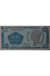 2 Bolívares Octubre 05 1989 Serie AK7