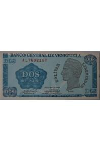 2 Bolívares Octubre 05 1989 Serie AL7