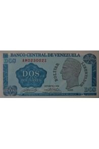 2 Bolívares Octubre 05 1989 Serie AM7