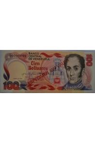100 Bolívares Espécimen Enero 1980 Anv.