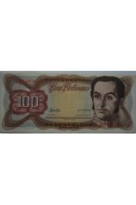 100 Bolívares  Marzo 5 1974 Serie G7