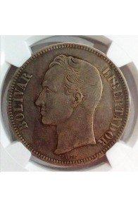 5 Bolivares  - 1879