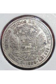 1 Bolivar  - 1889