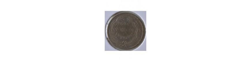 2 Medios Centavos 1871-1877