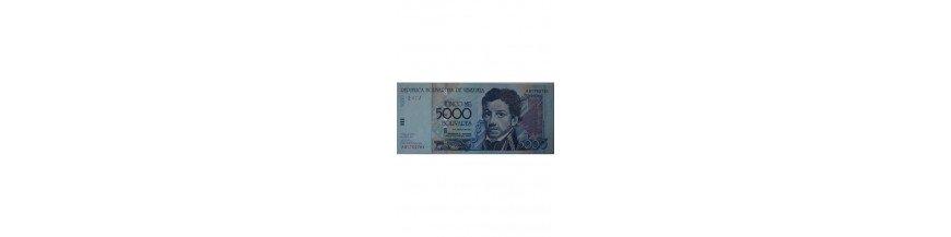 Billetes 5000 Bolívares